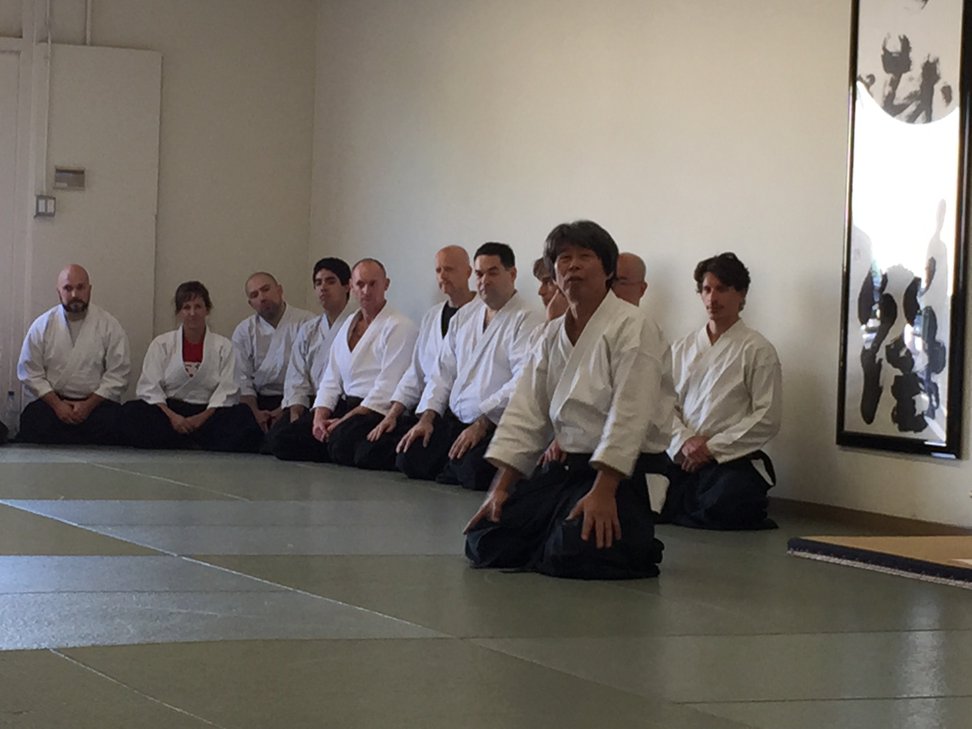 Testing in front of Matsuoka Sensei